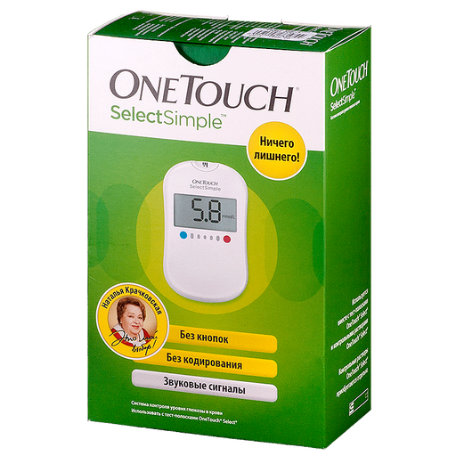 OneTouch SelectSimple Глюкометр, 1 шт.